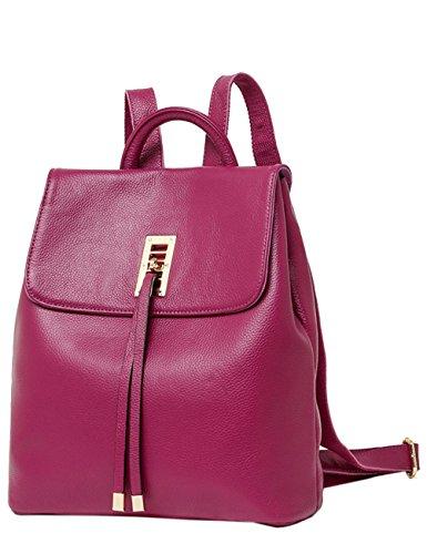 Menschwear Moda Mujer Chica funda mochila escolar bolsa Negro Morado