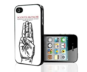 Scouts Honor Funny Black White and Red Hard Snap on Phone Case (iPhone 5/5s)