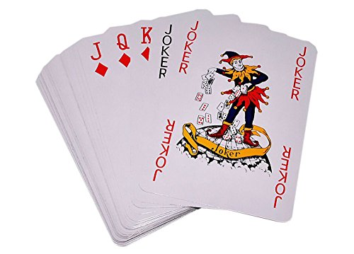 - TRIXES 86mm x 122mm Large Playing Cards 52 Card Deck and Two Jokers