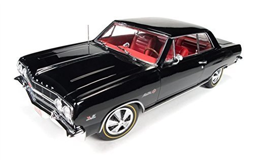 Chevrolet 1965 Chevelle SS 396 Z-16 Black 50th Engine Anniversary Limited Edition to 1002pcs 1/18 by Autoworld AMM1061