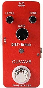 Guitarra pedal de efectos de pedal de efectos efectos de distorsión británica verdad puente basado en el clásico de amplificador de distorsión