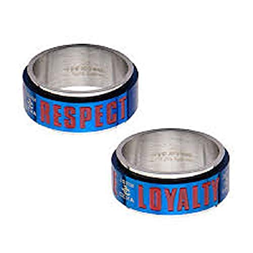 WWE Men's Stainless Steel John Cena Hustle,Loyalty and Respect Spinner Ring by Deals Daily