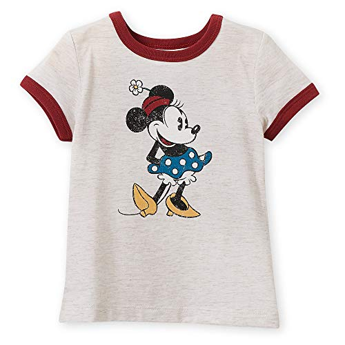 Disney Minnie Mouse Classic Ringer T-Shirt for Girls - Oat Size L (10/12) Multi