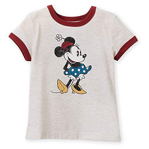 Disney Minnie Mouse Classic Ringer T-Shirt for Girls - Oat Size S (5/6) Multi (Girls Ringer T-shirt)