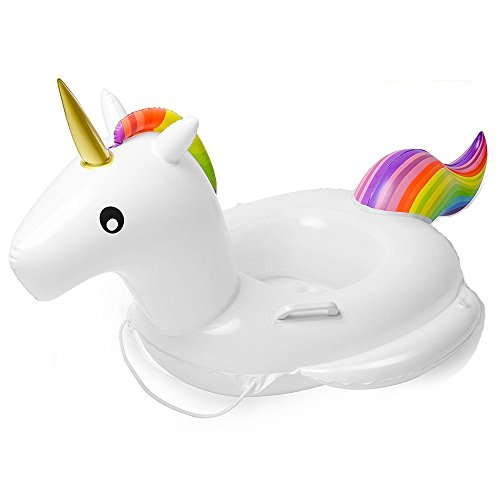 Baby Pool Float Unicorn Inflatable Boat Children Inflatable Swimming Pool Loungers Baby Summer Fun Outdoor Pool Toys Float Raft Lounger Pool Float Toy