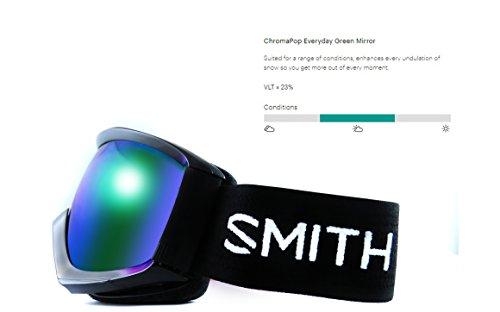 (Smith Optics Adult Prophecy Turbo Fan Snow Goggles Black Frame/ChromaPop Everyday Green Mirror)
