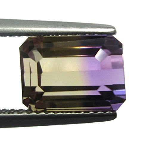 IF 4.480ct 10x7mm Natural Ametrine Octagon Untreated Yellow & Purple