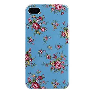 LCJ Flower Pattern Hard Case for iPhone 4 and 4S (Assorted-Colors) , Pink