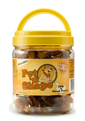 Pet 'n Shape Chik 'n Sweet Potato Natural Dog Treats, (Great China Chew Toy)