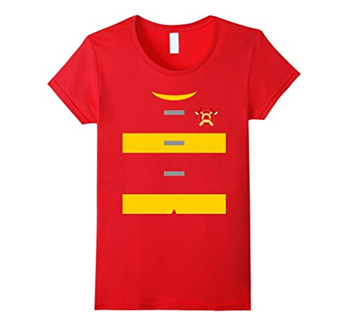 Womens Firefighter Uniform Costume T-Shirt | Fireman Shirt Small Red