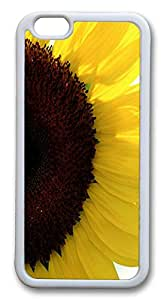 Kawaii iPhone 6 Cases, ACESR Sunflower Back Cover Case for Apple iPhone 6(4.7inch) TPU White