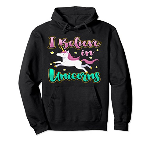 Unisex Best Unicorn Gifts For Girls Unicorn Party Hoodies Women Medium Black (Kids Party Sweatshirt)
