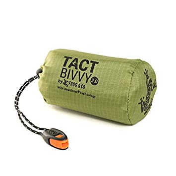 new concept d54df 98292 Tact Bivvy Compact Ultra Lightweight Sleeping Bag - 100% Waterproof  Ultralight Thermal Bivy Sack Cover, Emergency Blanket Liner Bags for  Emergency ...