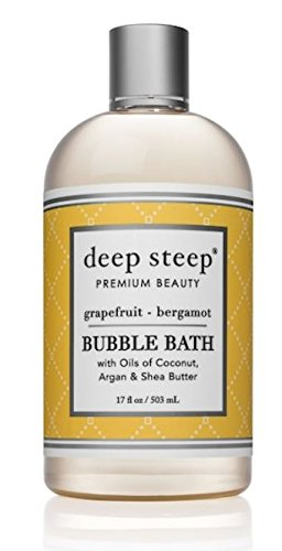 Deep Steep Bubble Bath, Grapefruit Bergamot, 17.5 Ounce