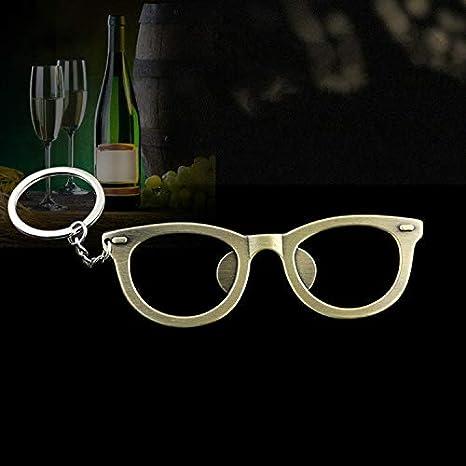 Llavero con forma de gafas, abridor de botellas de metal ...