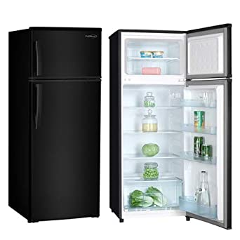 Black Premium PRF737HB 7.4 cu ft Refrigerator with Top Freezer,