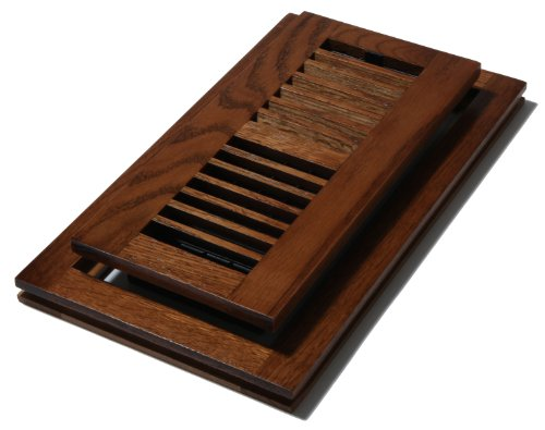 Decor Grates WLFT410-C 4-Inch by 10-Inch Wood Flush Mount Floor Register, Oak Cocoa ()