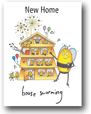 New home card house swarming a compost character greeting card new home card house swarming a compost character greeting card bg486 m4hsunfo