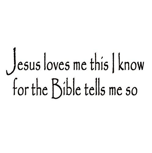 Jesus Loves Bible Christian Sticker product image