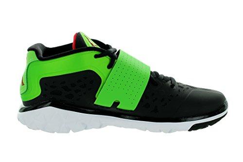 Jordan Nike Mens Flex Flex Trainer 2 Scarpe Da Allenamento Nere / Gym Red / Grn Pulse / White
