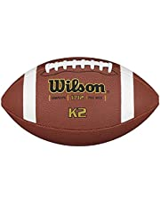 Wilson American Football voor kinderen en tieners, gemengd leer, K2 COMPOSITE, bruin, WTF1712X