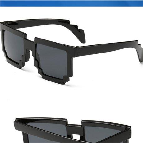 de moda gafas novedad mosaico unisex gafas bebé de de sol Cuadrado gafas pixel sol Borgoña sol Black de gafas GGSSYY nqO4Iww