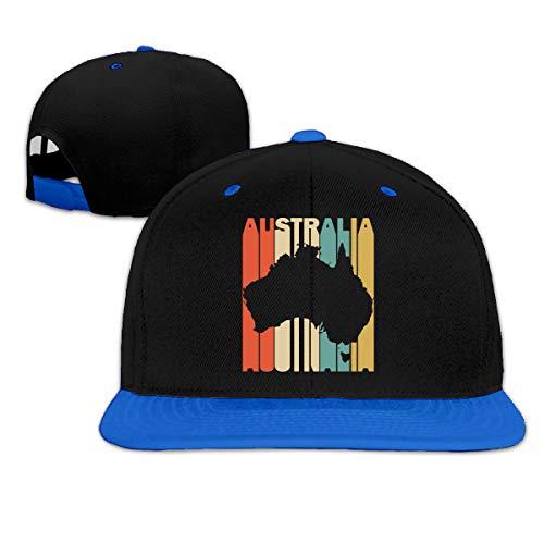 (Retro Style Australia Silhouette Unisex Hip Hop Flatbrim Baseball Caps, Adjustable Strapback Cap)