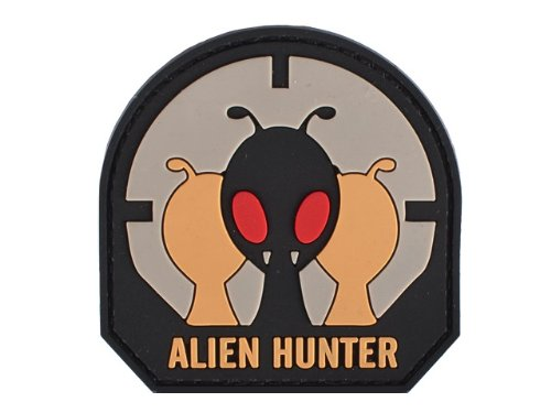 "PVC IFF Velcro Morale Patch - ""Alien Hunter"""