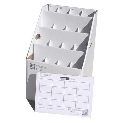 AOS Home Office School Upright Stackable Rolled File Document Storage Organizer White 16 Slots by Advanced Organizing