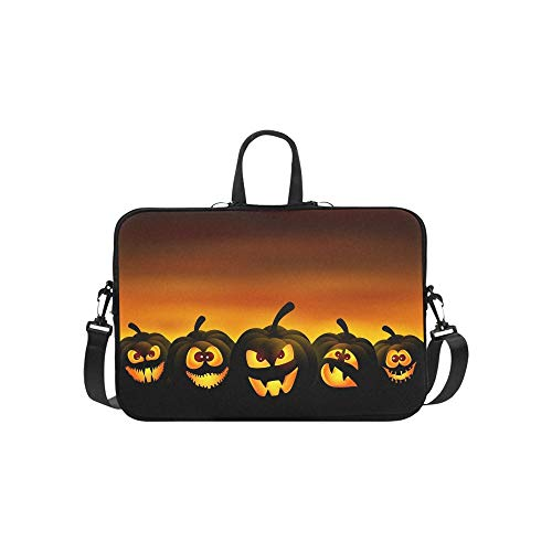 Vector Illustration Halloween Funny Pumpkins Sunset Pattern Briefcase