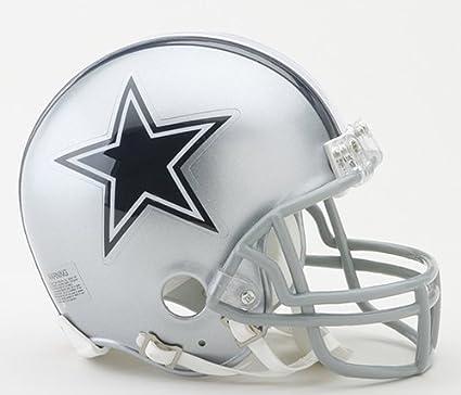 Silver Riddell Dallas Cowboys Mini Speed Helmet