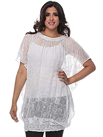 Cocum Tunic Top for Women - 16 UK, White