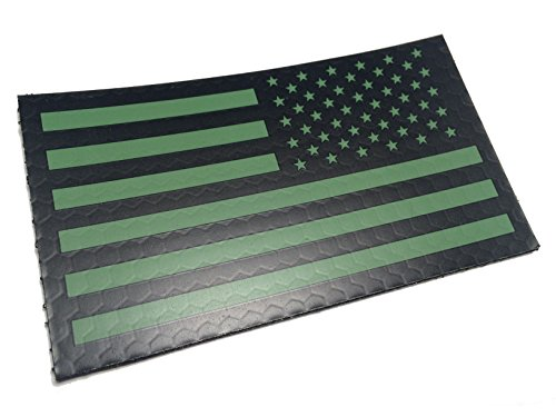 Reversed Od Green Us Ir Infrared reflective USA Flag Military Morale velcro uniform - Usa Ir