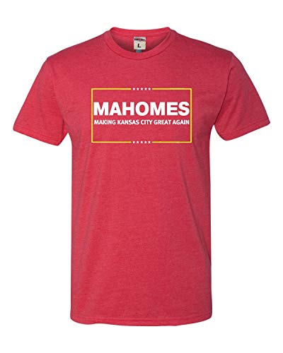 XX-Large Red Adult Mahomes Making Kansas City Great Again Deluxe T-Shirt
