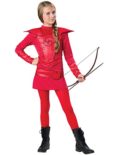 Girls Katniss Costumes (InCharacter Costumes Red Warrior Huntress Costume, One Color, Large)