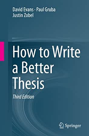 Writing the winning thesis or dissertation 3rd edition