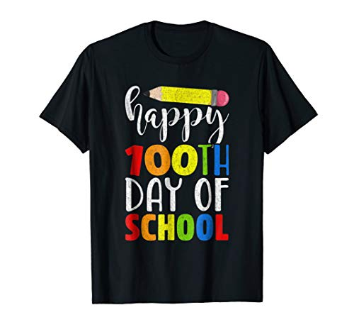Happy 100th Day of School Shirt for Teacher or Child for $<!--$15.97-->