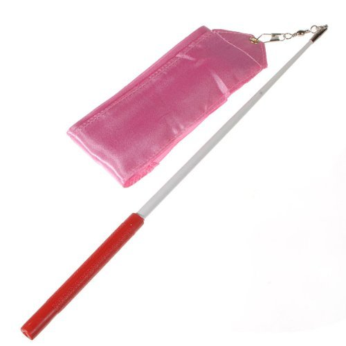 4m 8 Colors Gym Dance Ribbon Streamer Baton Twirling Rod Rhythmic Art Gymnastic Rose red s5MuaJ8EK1