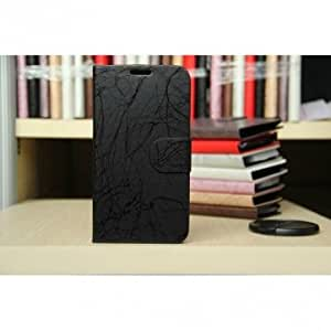 Lightning Grain Leather Stand Case For Samsung Galaxy Note2 N7100 --- Color:Black -Big Paw Trading