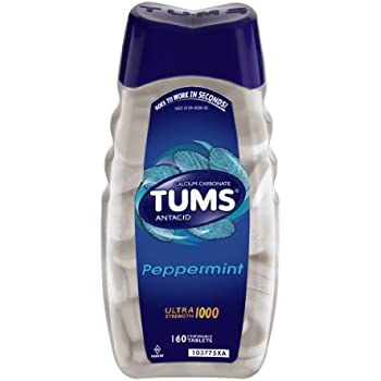 Amazon Tums Regular Strength Mint Antacid Chewable Tablets For