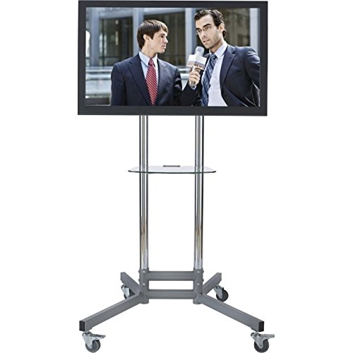 Avteq RPS-200 Display Stand. MOBILE CART F/ PLASMA LCD LED DIGITAL SIGNAGE VIDEO CONFERENCING VC-CRT. 22' to 52' Screen Support - 225 lb Load Capacity - 62' Height x 23' Width x 25' Depth - Steel
