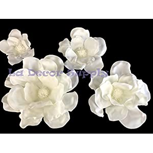 Set of 4 Classic Elegant Giant Foam Flowers(Floating). Real Touch 3D Artificial Magnolia. Wedding Backdrop, Photo-Booth, Backdrop, Nursery, Wall, Archway, Home Decoration Centerpiece 20