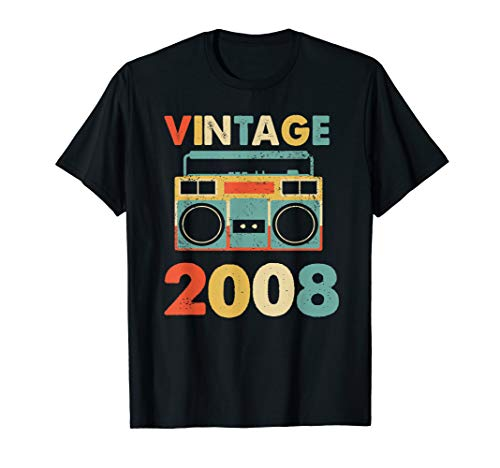 (Retro Vintage 2008 T shirt 11 Years Old 11th Birthday Gifts)