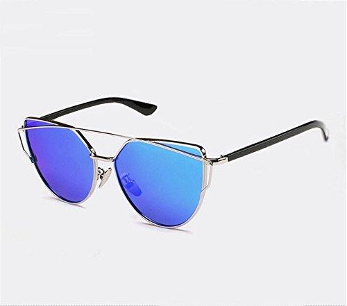 Gafas de sol So Real reflected retrobille plata azul Unisex ...