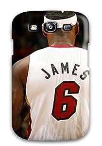 Excellent Design Nba Lebron James Miami Heat Mvp Basketball Phone Case For Galaxy S3 Premium Tpu Case