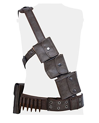 Miccostumes Men's Sole Survivor Cosplay Belts Set (Men Large)]()