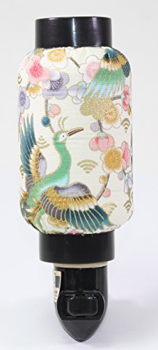 Colorful Spring Flowers and Peacock Birds Oriental Japanese Cloth Night Light Lamp Candle Home Decor Birthday Housewarming Congratulatory Blessing Gift US Seller (Oriental Sale Lamps For)