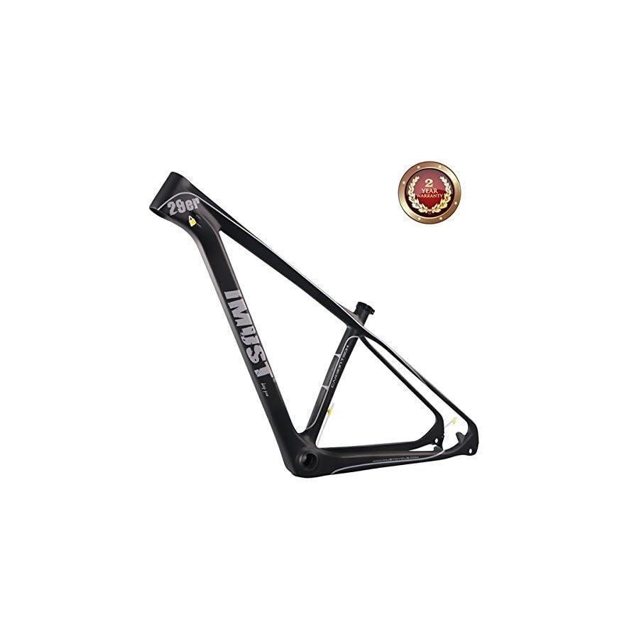 IMUST 29er Carbon Fiber Mountain Bike Frame UD Matt BB92 135/142mm Axle Interchangeable BB92