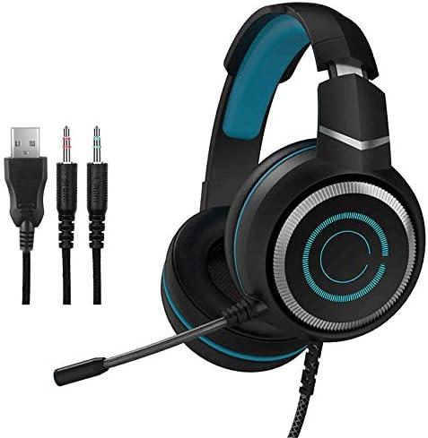 ゲーム用ヘッドフォンUSB 7.1 PS4 / PC/Xbox One/Nintendo Switch/Tablet用のベースサラウンドサウンドを排除するためのマイク付きUSBアドバンスト