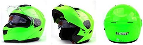 安全装置 ヘルメット - フルフェイスバイクダブルサンバイザーオートバイクラッシュABSオープンフェイス男性と女性に適して 個人用保護具 (色 : C, サイズ さいず : M m)